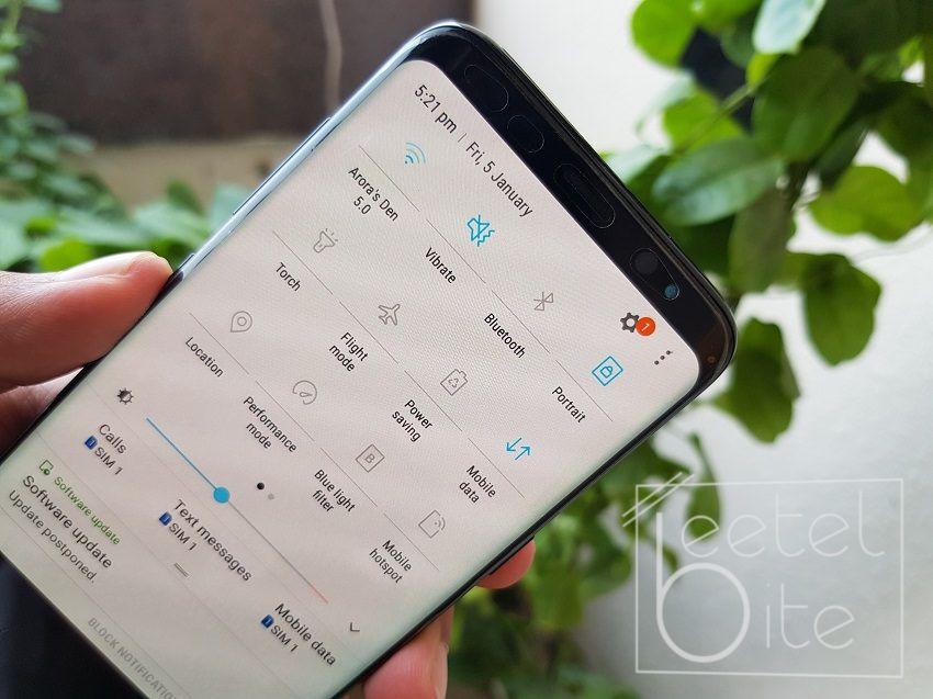 Samsung Galaxy S8 Notifications
