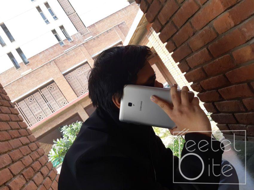 Samsung Galaxy Tab A (2017) Talking on Phone