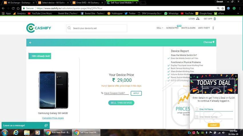 Cashify Galaxy S8