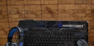 soundbot, sportsbot, keyboard, mouse, headset, headphones with mic, gaming, budget gaming