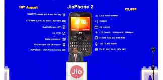 jio, jiophone, reliance, 4g, volte, jiophone 2, price, specifications
