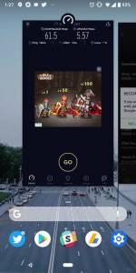 Android P Recents Menu