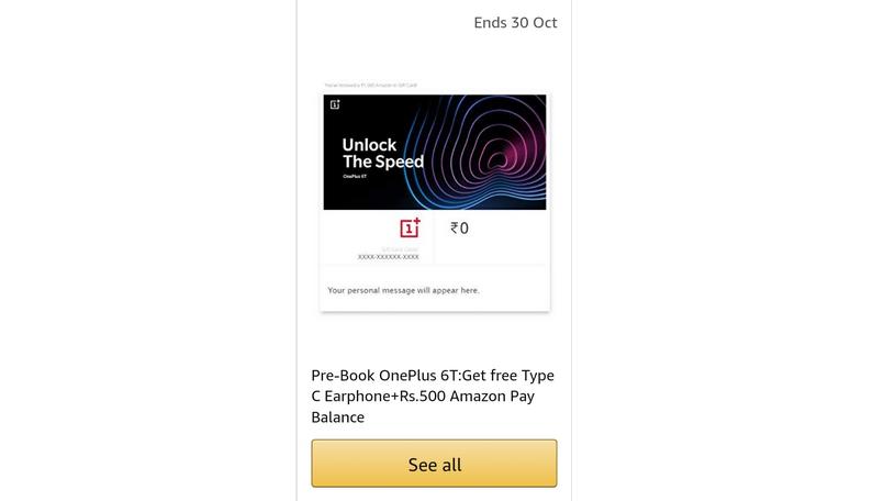 OnePlus 6T amazon