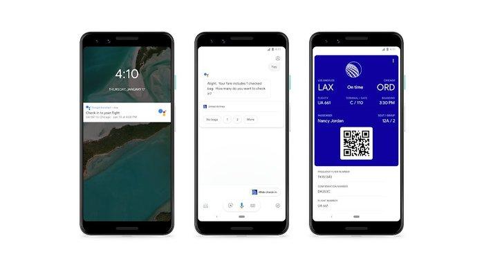 Google Assistant flight, ces 2019