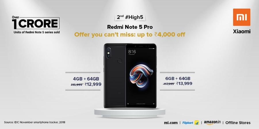 redmi note 5 pro price cut, xiaomi