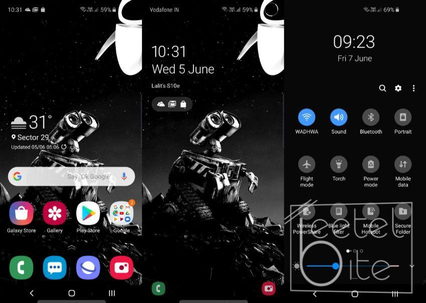 Samsung Galaxy S10e, UI, Software, OneUI