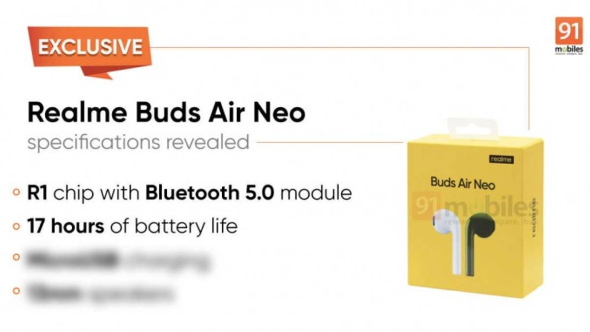 Realme Buds Air Neo, Realme, Realme Buds Air Neo price, Realme Buds Air Neo photos, Realme Buds Air Neo specifications, Realme Buds Air Neo specs, Realme Buds Air Neo launch date